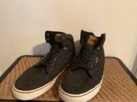 Vans Old Skool High Top Gray Black Skateboarding Shoes Mens 13