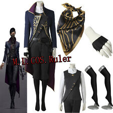 New Dishonored 2 Cosplay Queen Emily Kaldwin Assassin Cosplay Costume Full Suit