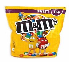 1 Kg M&M's Chocolate Covered Peanuts Party Size m&ms Nuts NEW