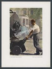 Agfacolor Retzlaff München Straßenbahn Trambahn Straßenbau Lkw Teerkocher 1938