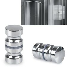 Shizak Confezione da 2 in acciaio inox Schermo per Doccia Round back-to-BACK DOOR HANDLE Do.