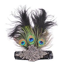 Peacock Feather headband Accessories Great Gatsby~Halloween Party USA seller