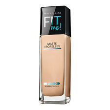 New Maybelline Fit Me Matte Poreless Face Foundation Normal to Oily Skin 1 fl oz