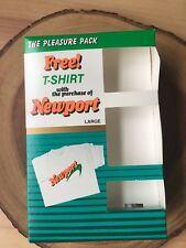 Vintage Newport Pleasure Pack Cigarette Tee Shirt Tobacco NIB Size Large 80s 90s