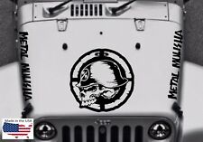 NEW METAL MULISHA Blackout Hood Vinyl Car Truck Decal 5 pcs (Fits Jeep Wrangler)