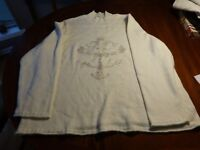 Coldwater Creek White Holiday Sweater with Rabbit Hair Size 3X