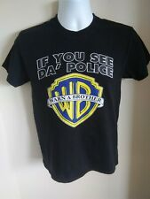 Vintage If you see da Police Warn a Brother T-Shirt Men's S Small Humor