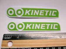 "TWO- 4"" KINETIC Trainer Tire Bike Ride Mountain Frame Bicycle DECAL STICKER RBZ"