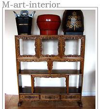 Antik Regal Tee-Schrank Bücherschrank Chinese Tea-Cabinet Qing Dynastie ca 1800