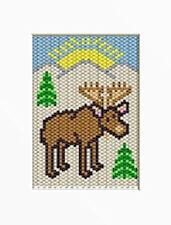 Mountain Moose Beaded Banner Pattern