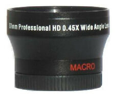 37mm ZE-HD Wide Angle Lens For any Camcorder w/ 37mm Filter Thread (See Listed)