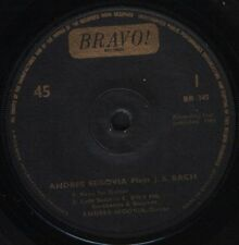 "Andres SEGOVIA interpreta JS Bach EP Suite per chitarra +3 BRAVO BR 345 7"" WS EX/"