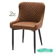 Sedia Moderna in Ecopelle a Rombi Leaf Brown - 2 Pezzi SPEDIZIONE GRATUITA