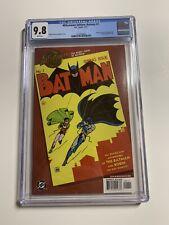 Millennium Edition Batman 1 Cgc 9.8 White Pages Dc Comics