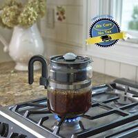 8-Cup Coffee Pot Maker Stove Top Percolator Stovetop Hot Tea Bevarage Drink Moka