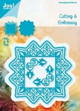 JOY CRAFTS DIE CUTTING & EMBOSSING STENCIL-  SQUARE & 2 CORNERS - 6002/0416 NEW