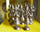 Antique Hindu metallic Musician Figurines lot of 9