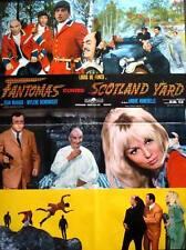 FANTOMAS CONTRE SCOTLAND YARD Italian 1F movie poster 26x38 LOUIS DE FUNES NM