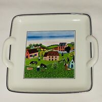 Villeroy & Boch DESIGN NAIF Square Handled Cake Plate/Tray