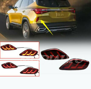 For Kia Seltos 2020-2021 LED Rear Bumper Lamp Led Brake Ligh Signal lamp 2PCS