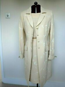 PADDY CAMPBELL - NEW - Coat, skirt, top UK 10 - formal, mother of bride, races