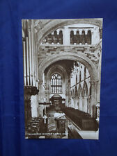 WIMBORNE MINSTER - CHURCH OF ENGLAND - REAL PHOTOGRAPH - S.F. JAMES, A.I.B.P.