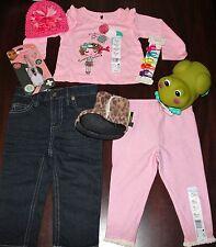 Girl Lot 'Grandma's Pretty Girl' Top Dark Wash Skinny Jeans Hat 12 Mths- Gift