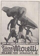 Z4040 Tende da campo Ettore MORETTI - Illustrazione - Pubblicità - 1936 old ad