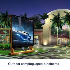 Portable Projector Screen 16:9 HD Outdoor Home Cinema Theater 3D Movies 6 Sizes