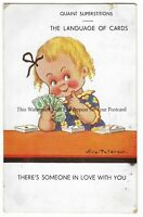 Artist Vera Paterson 'Theres Someone In Love With You' Vintage Postcard 4.4