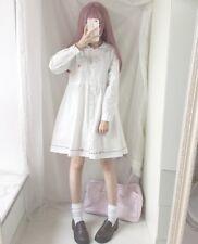 Japanese Kawaii Lolita Sailor Collar Long Sleeve Girl Dress Scissors Embroidery