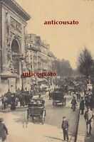 CARTOLINA Paris Boulevard Saint Denis - viaggiata 1911 animata postcard bella