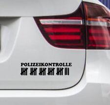 WD Autoaufkleber POLIZEIKONTROLLE Strichliste Polizei Motorrad Auto Sticker FUN