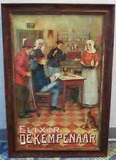 GODFRINON, ELIXIR DE KEMPENAAR, c.1905 CHROMOLITH POSTER, FRAMED, MUSEUM GLASS