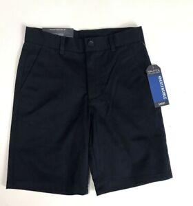 NEW Nautica Boys Navy School Uniform Shorts Size 7 Adjustable Waist