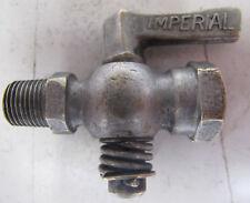 Vtg Imperial Brass Shutoff Valve Drain Hit Miss Engine Radiator Water Gas Oil