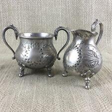 More details for antique cream jug and sugar bowl set original victorian aesthetic