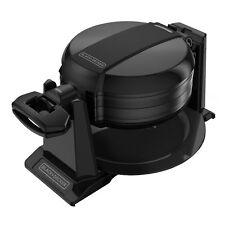BLACK+DECKER WMD200B Rotating Double Flip Waffle Maker, Black