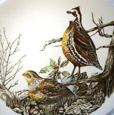 """JOHNSON BROTHERS GAME BIRDS 11"""" OVAL PLATE QUAIL"""
