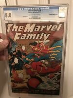 Marvel Family 4 CGC Golden age Golden Age Comic 1946