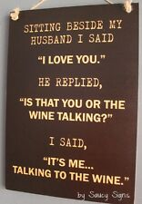 I Love You Wine Talking Sign - Husband Wife Bar Pub Tavern Kitchen Champagne