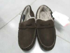 MENS REAL SUEDE MOCCASINS  SIZE 10