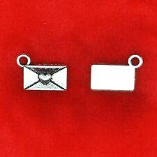 20 x Tibetan Silver Envelope Letter with Love Heart Harry Potter Howler Charms