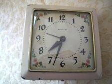 Vintage Westclox Alarm Clock - VERY RARE -Retro, Floral design inside