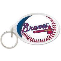 Atlanta Braves Acrylic Oval Keychain MLB