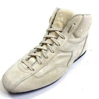 DIADORA Men's 7 Gray High Top Leather Sneakers Lace Up Womens 9