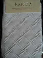 Ralph Lauren Georgica Garden Lattice White King Sham New