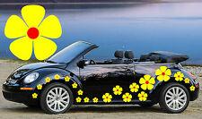 32 Amarillo Y Rojo Pensamiento Flor coche Autoadhesivos, Stickers, alquiler de gráficos, Daisy pegatinas