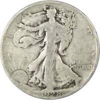 1928 S Liberty Walking Half Dollar VG Very Good 90% Silver 50c US Coin