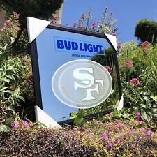 Bud Light Nfl San Francisco 49ers Football Beer Bar Mirror Man Cave Pub New